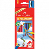 Faber-Castell. Карандаши (серия JUNIOR GRIP) 10 цветов.